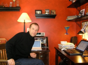 Ed in his home office.
