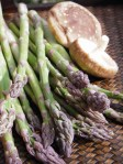 asparagus lying on a table
