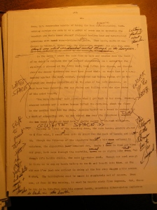 heavily marked manuscript page